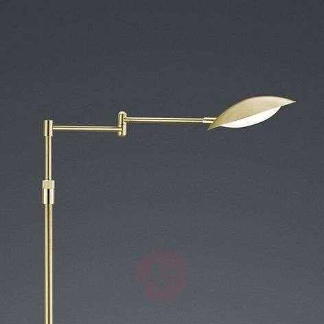 Calcio LED floor lamp, adjustable, matt brass