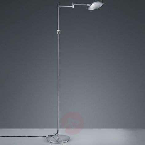 Calcio LED floor lamp, adjustable, matt nickel
