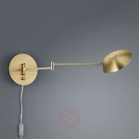 Calcio LED wall light, adjustable, matt brass
