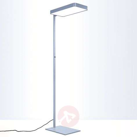 Caleo S2 silver LED office floor lamp