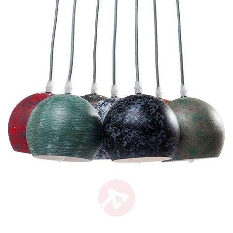 Calotta Antico - colourful pendant lamp, 7-bulb