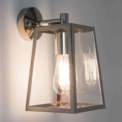 Calvi Outside Wall Light Lantern-Shaped Nickel-1020482-33