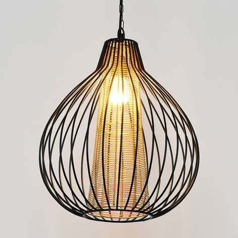 Capello pendant light with a double lampshade