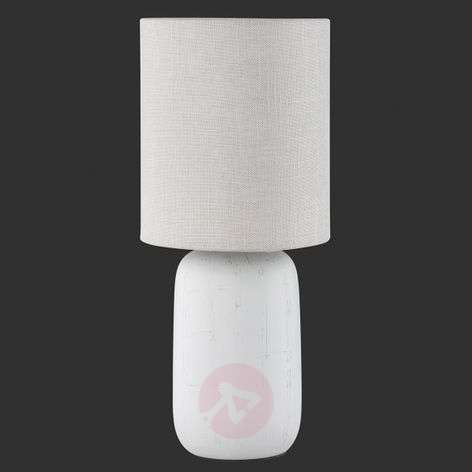 Cappuccino Coloured Table Lamp Clay With Fabric 8029186 31