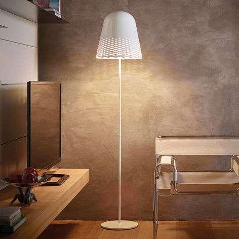 Capri designer floor lamp, attractive lampshade