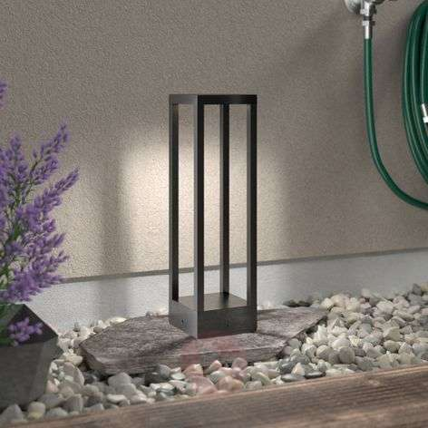 Carlota LED pillar lamp, dark grey, 50 cm