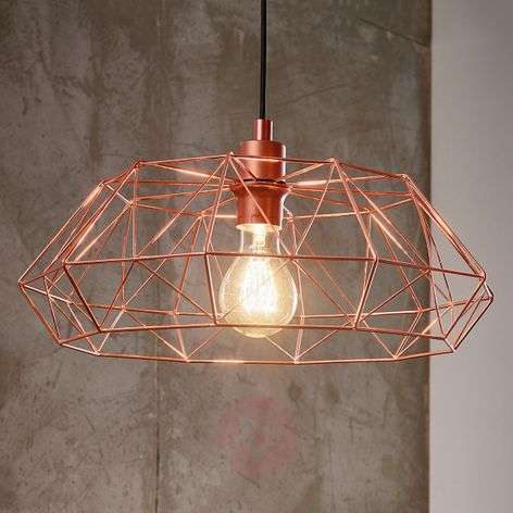 Carlton 2 hanging light in copper grid lampshade-3031868-31