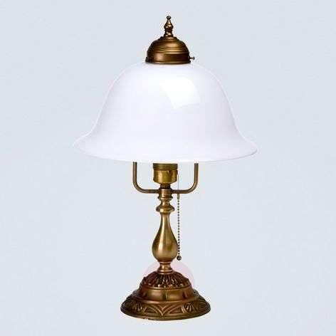Carolin embellished table lamp made of brass