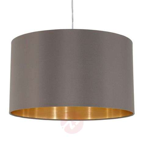 Carpi hanging light with a fabric lampshade