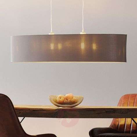 Carpi - oval fabric hanging light, 100 cm long