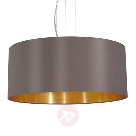 Carpi round fabric hanging light