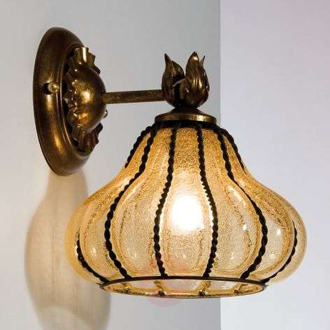 Carro - wall light in bronze and amber