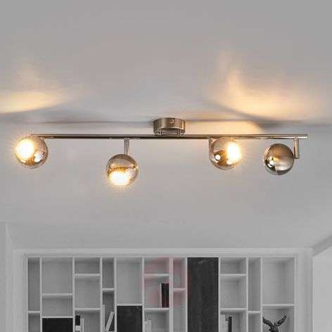 Ceiling lamp Arvin in nickel and chrome, LED