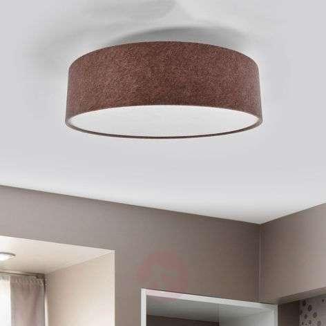 Ceiling lamp Gala made of beige brown felt, 60 cm