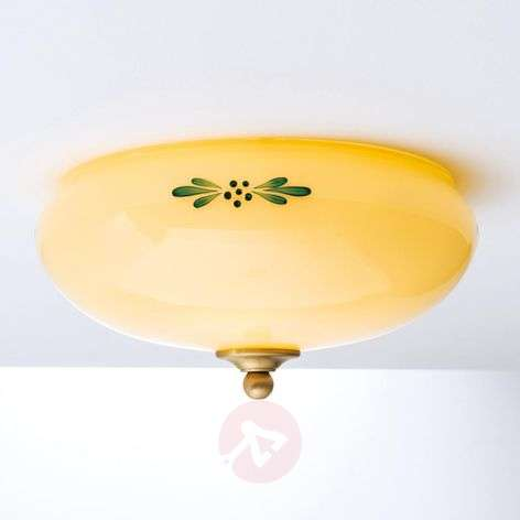 Ceiling lamp Nilay, with green décor