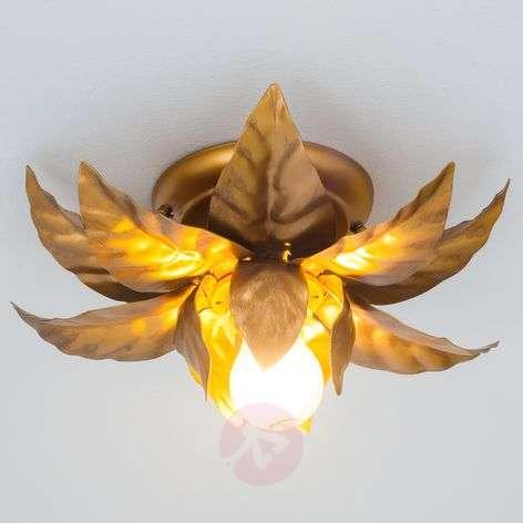 Ceiling light ANTIK with golden leaves 26cm
