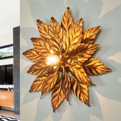 Ceiling light ANTIK with golden leaves