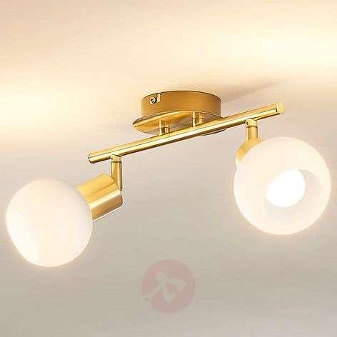 Brassgold ceiling lights shop online lights ceiling light elaina e14 led light bulbsbrass mozeypictures Choice Image
