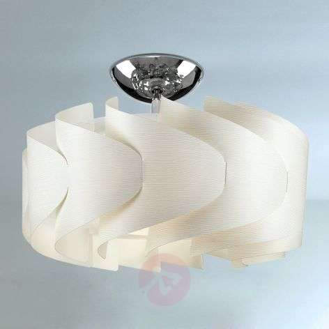 Ceiling light Sky Mini Ellix with a wooden finish