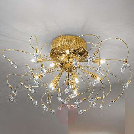 Ceiling light TWISTER, gold