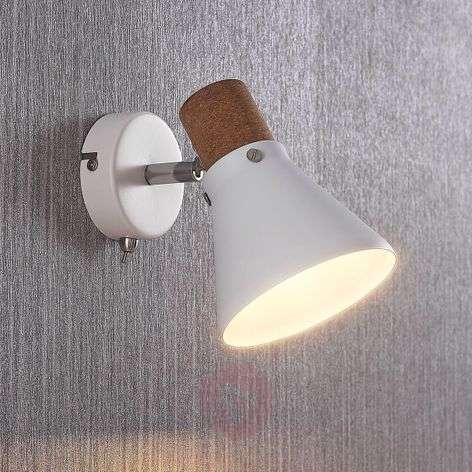 Ceiling spotlight Silva with cork decor, 1-bulb