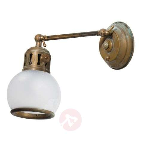 Celia - adjustable wall light with white lampshade