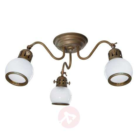 Celia - country ceiling light with white shades