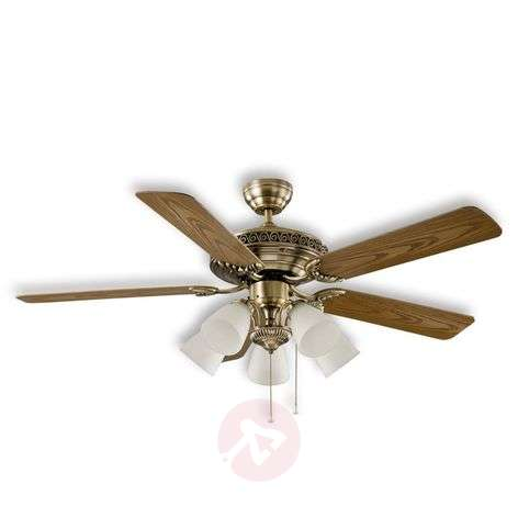Centurion ceiling fan, antique brass
