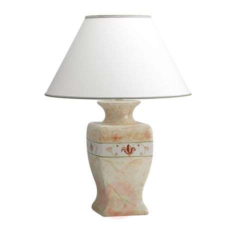 Ceramic buffet lamp Marmorino - height 70cm