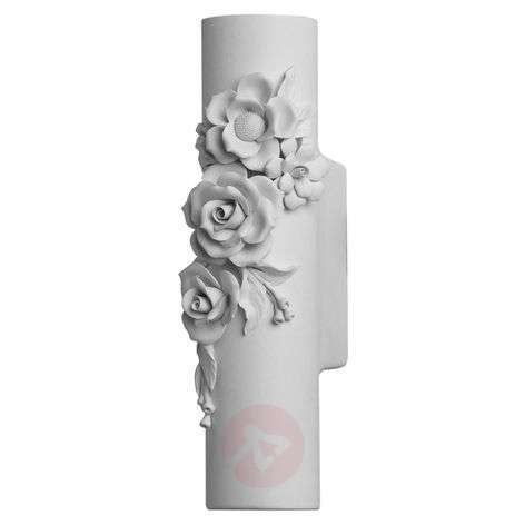 Ceramic LED wall lamp Capodimonte, handmade