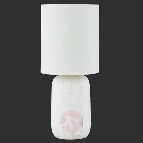 Ceramic table lamp Clay with fabric lampshade