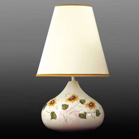 Ceramic table lamp Rusticana with fabric lampshade