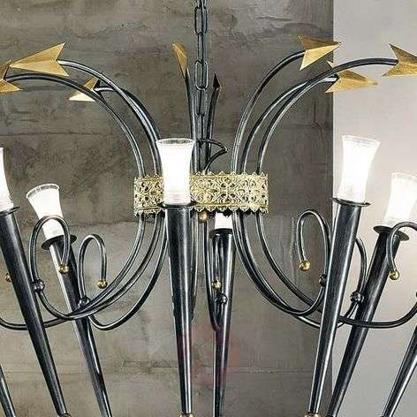 Chandelier IMPERO, eight-bulb, oval