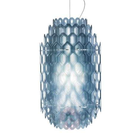 Chantal LED designer hanging light in blue