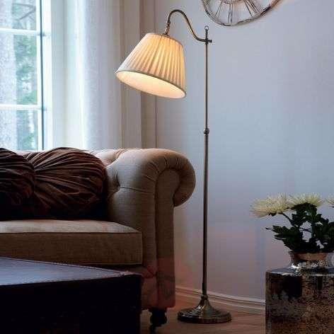Charleston antique floor lamp, antique brass