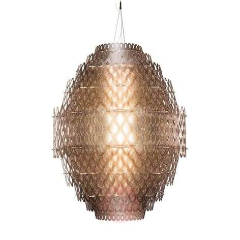 Charlotte - designer LED pendant lamp orange-brown