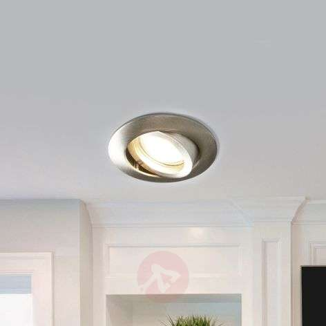 Charna Nickel Coloured Led Recessed Light Round Lights Ie