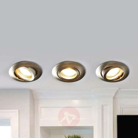 Charna three led recessed lights in set nickel