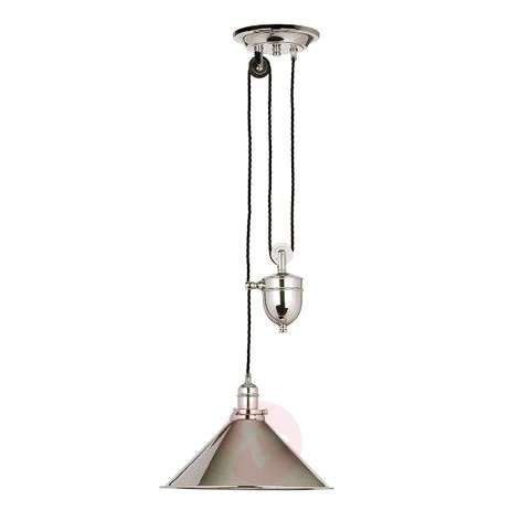 Chic hanging light Provence - height-adjustable