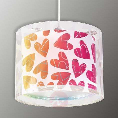 Kids pendant lighting lights childrens hanging light cuore with hearts mozeypictures Choice Image