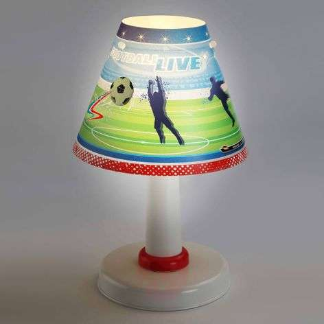 Kids table lamps lights childrens room table lamp football mozeypictures Image collections