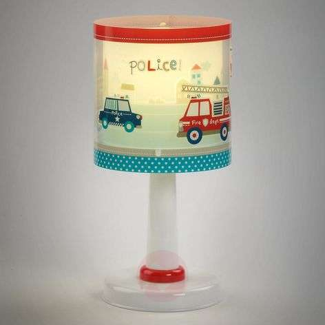 Children's table lamp Police with motif