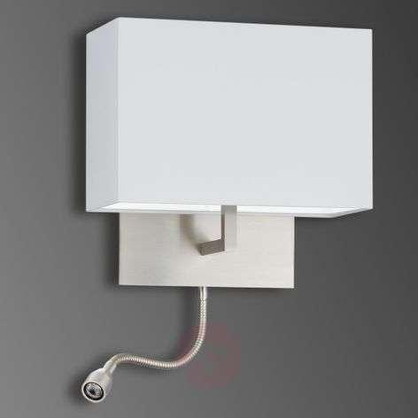 Chintz wall light Mikola with LED reading arm