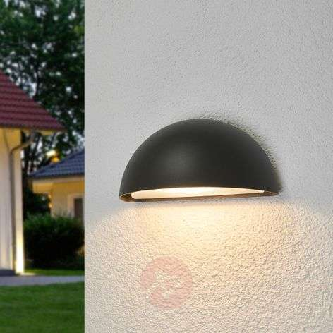 Christa semicircular LED wall light, IP65