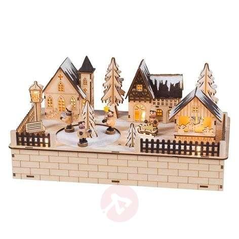 Christmas Village LED Schwibbogen rotating figures