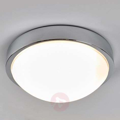 Chrome-plated bathroom ceiling lamp Elucio, IP44-9641093-38