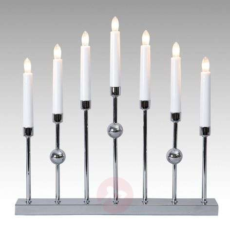 Chrome-plated candleholder Gustavo, 7-bulb