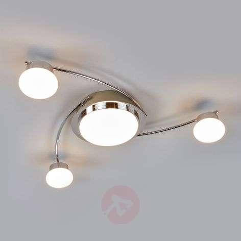 Chrome-plated LED ceiling light Vitus