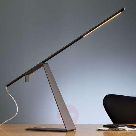 Chrome-plated LED designer table lamp Jella