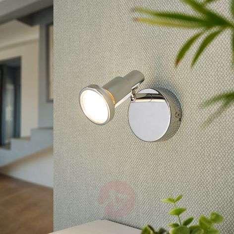 Chrome-plated LED spotlight Thom, GU10
